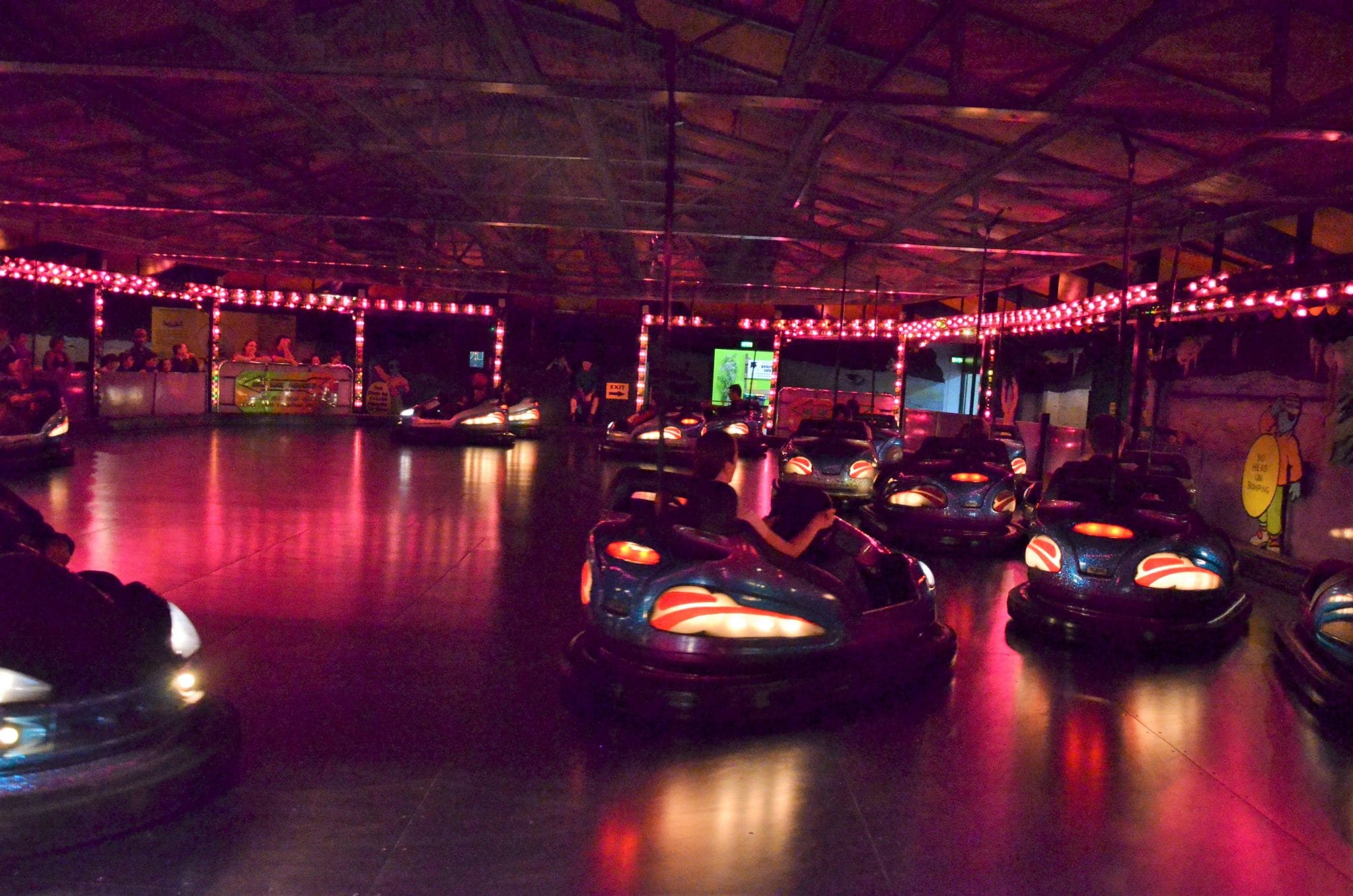 Dodgems in the dark