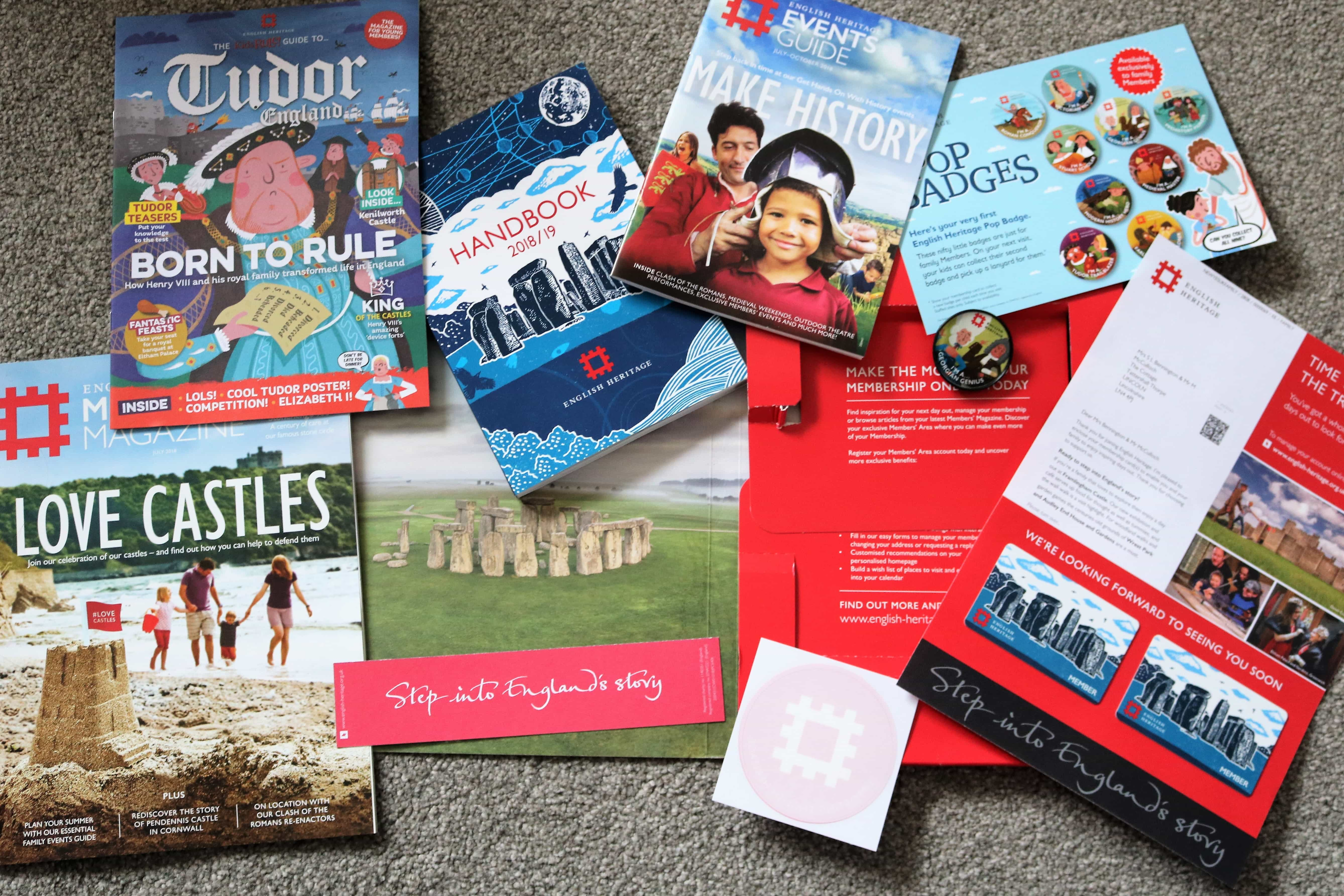 English Heritage Membership Pack