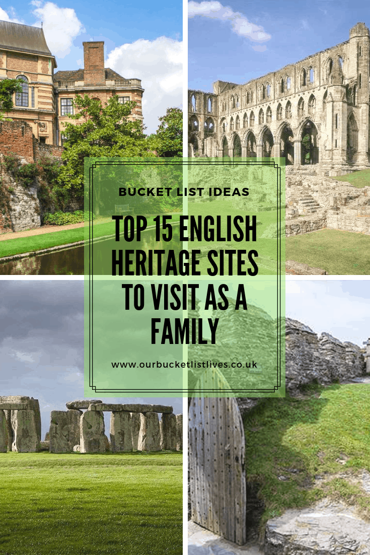 Top 15 English Heritage Sites to Visit as a Family