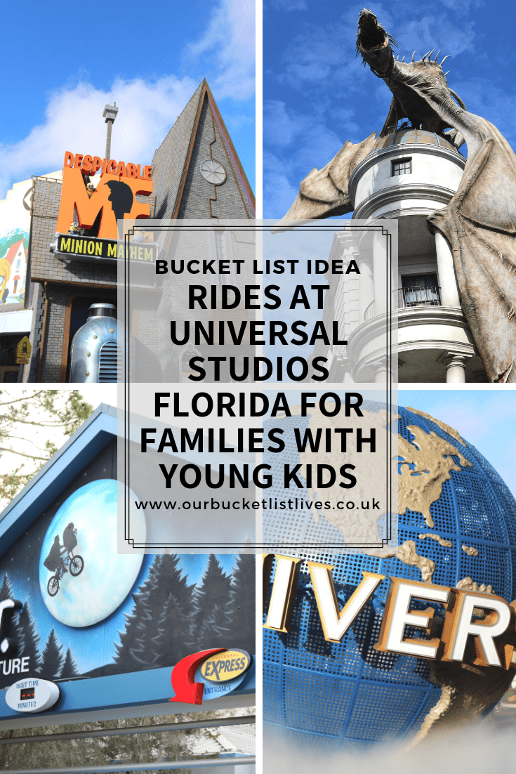 Rides at Universal Studios Florida For Families with Young Kids