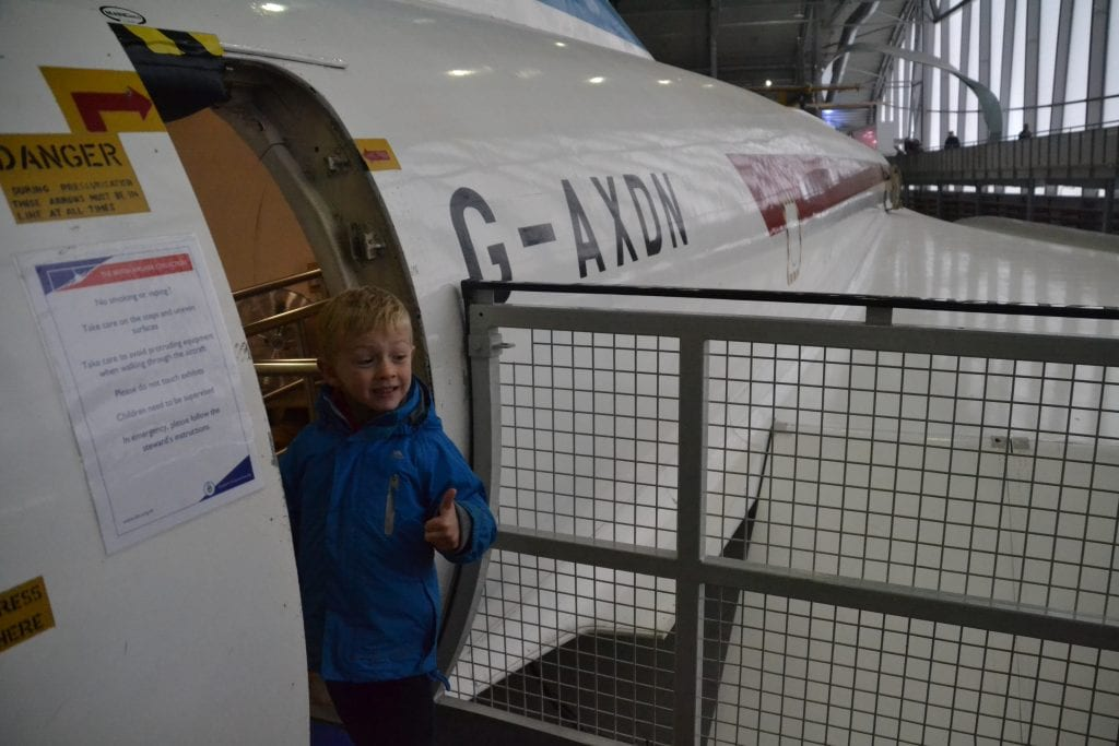 Standing in the doorway of Concorde