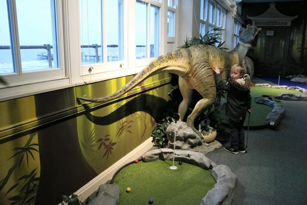 Dino Mini Golf at the Tower