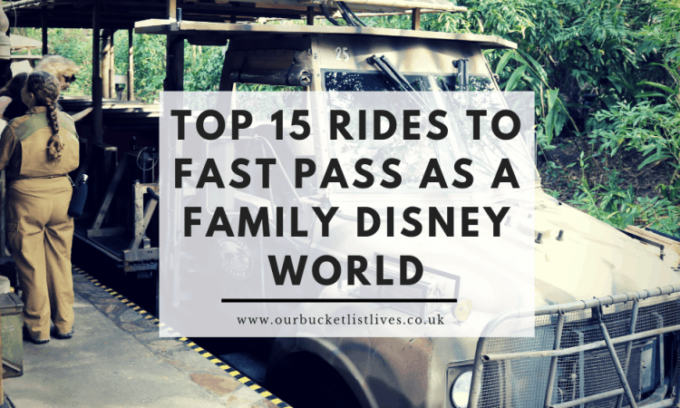 Top 15 Rides to Fast Pass as a Family Disney World