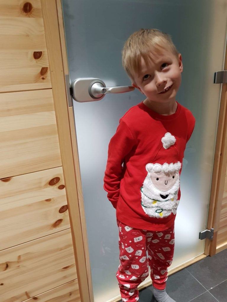 Santa Pyjamas = bed ready