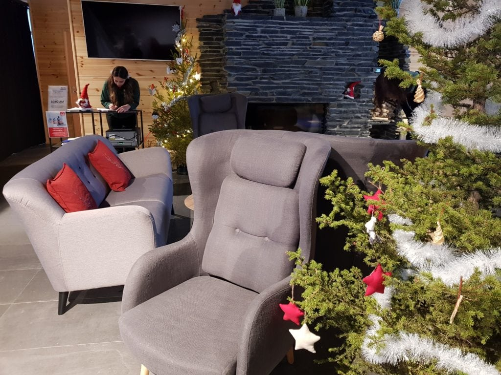 The Cosy Snug area opposite the hotel bar