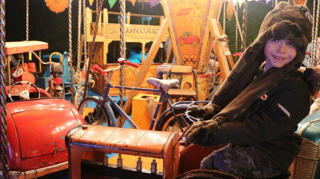 Vintage fairground rides