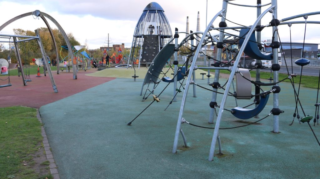 Photos of the outdoor play area at Magna