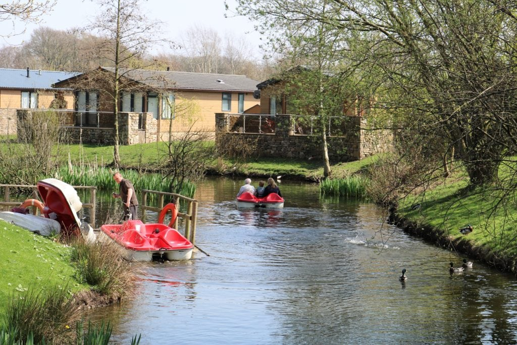 Pedalos at Ribby Hall