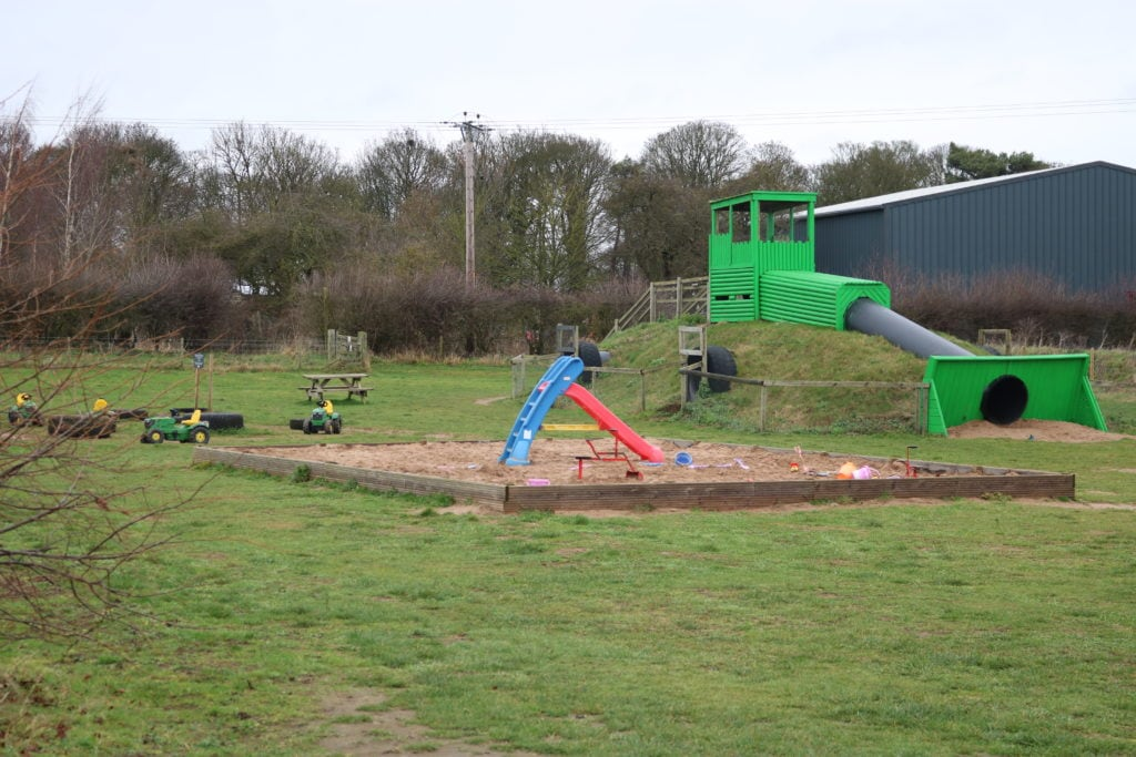 The Large Tractor Slide plus sandpit