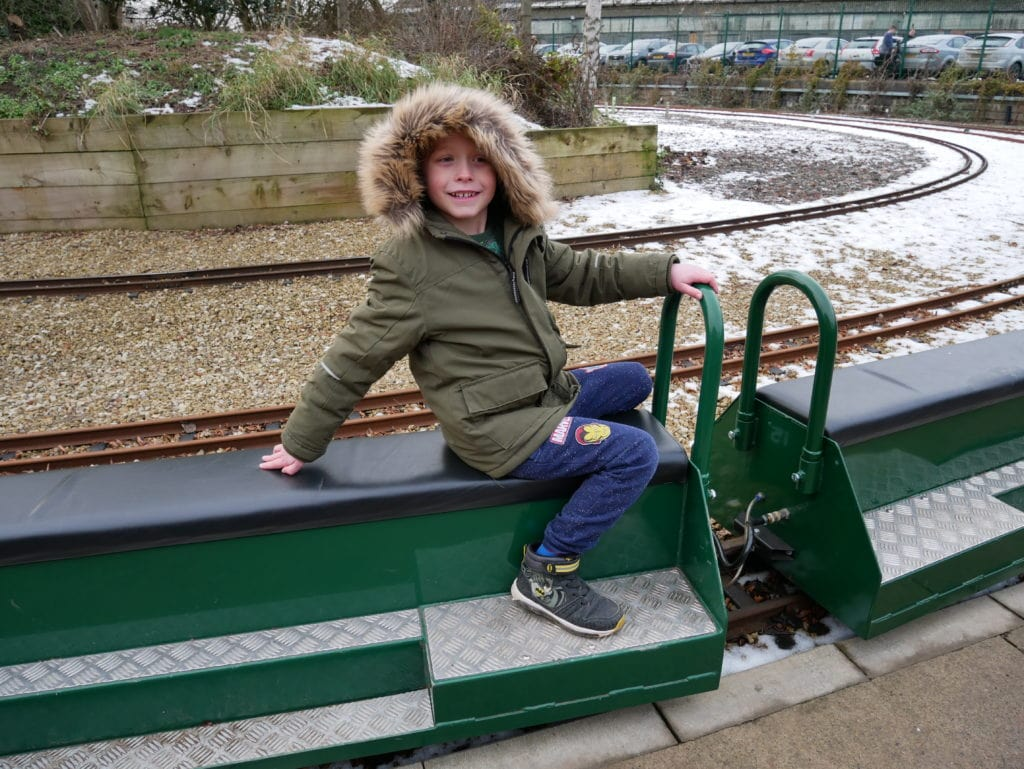 A ride on the miniature railway