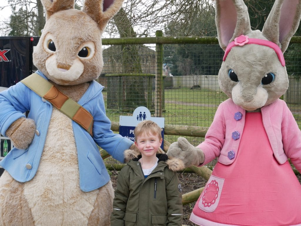 Meeting Peter Rabbit at 1pm or 3pm outside Mansion House