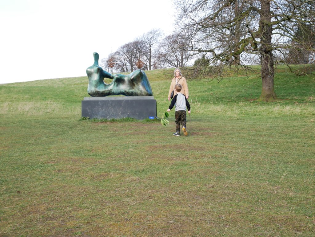 One of the Henry Moore sculptures on the way back up to the cafe/main car park