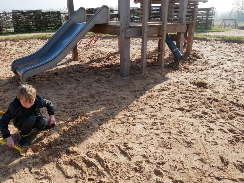 Outdoor sand and water play at William's Den