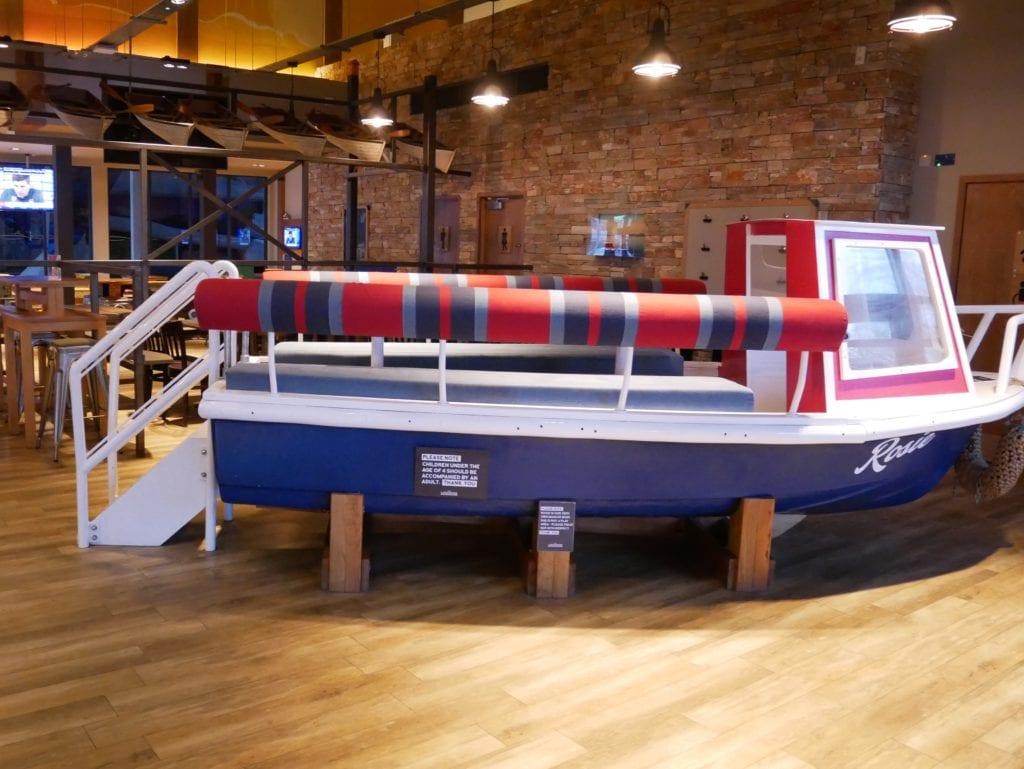 The fun boat table