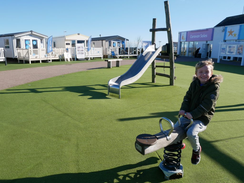 The outdoor play area near funworks