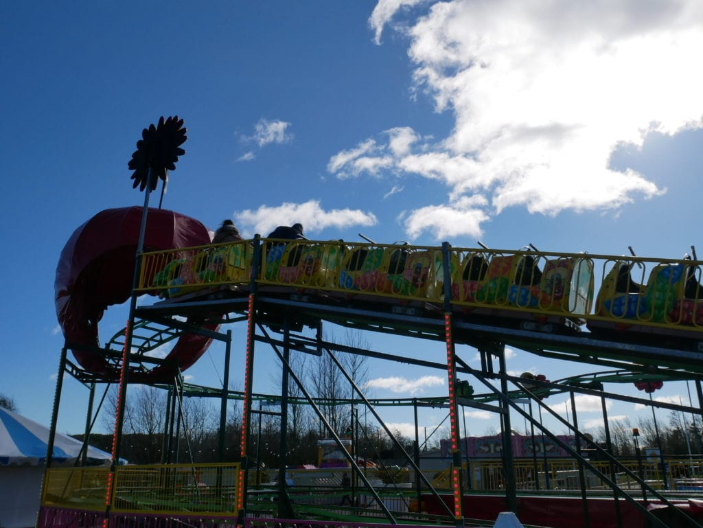 One of the fairground rides