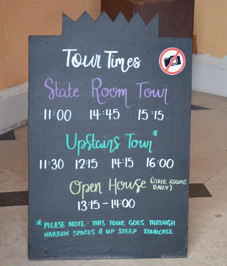 Tour times