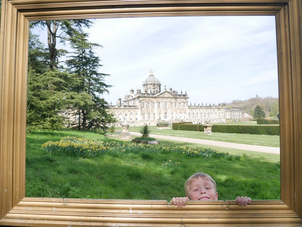 The giant photo frame at castle howard