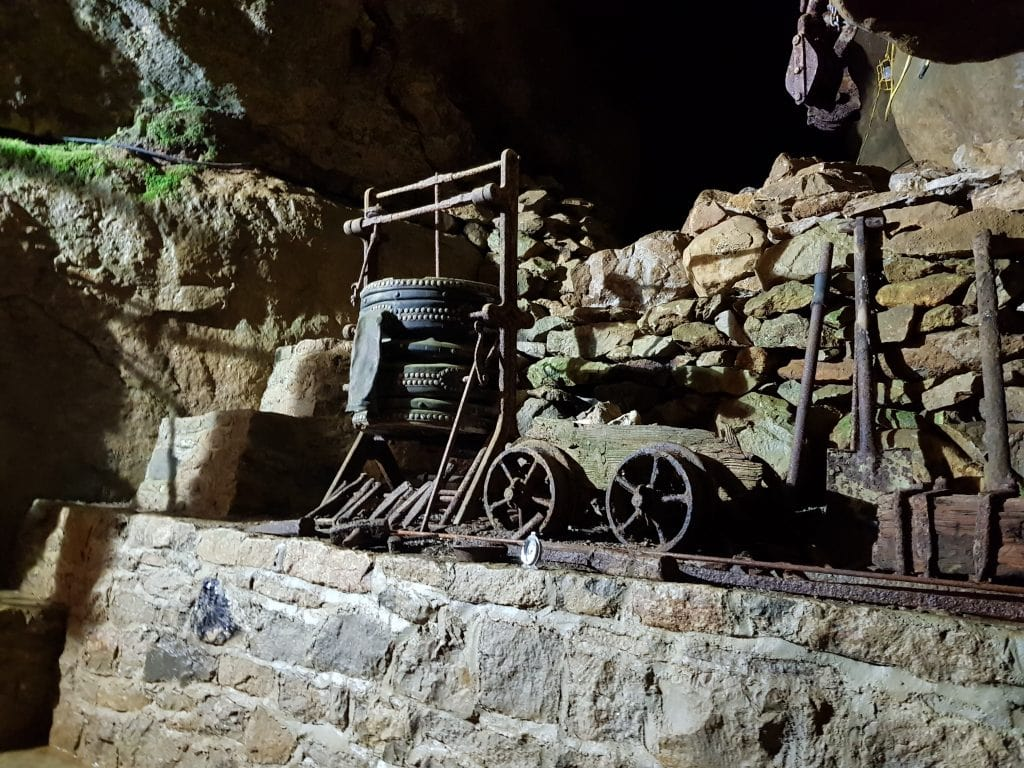 Mining equipment used at Blue John