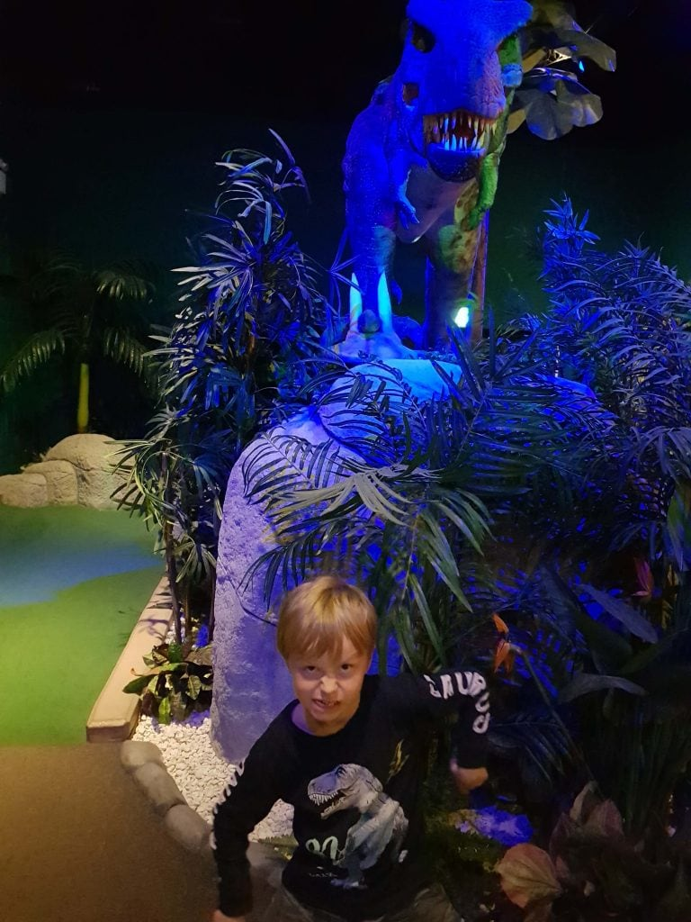 The T-Rex 18 hole course at Volcano Falls Adventure Golf