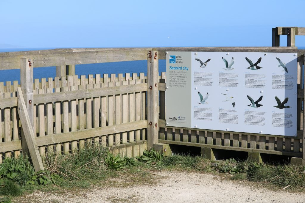 There's plenty of signs to help you with your bird spotting