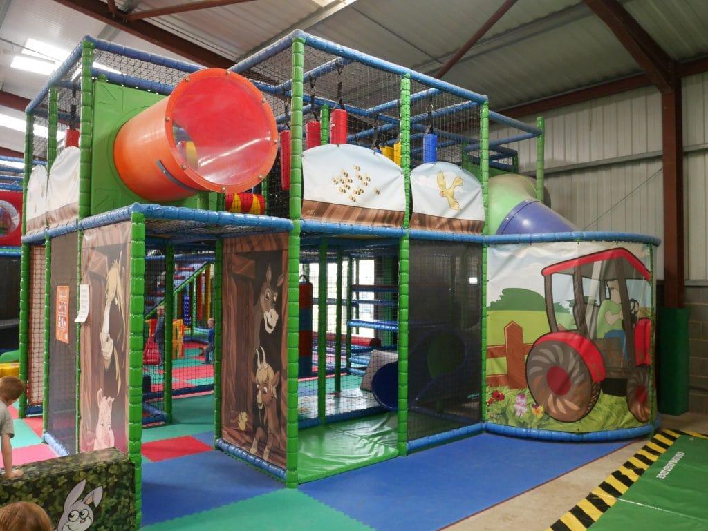 Inside Barney's Play barn