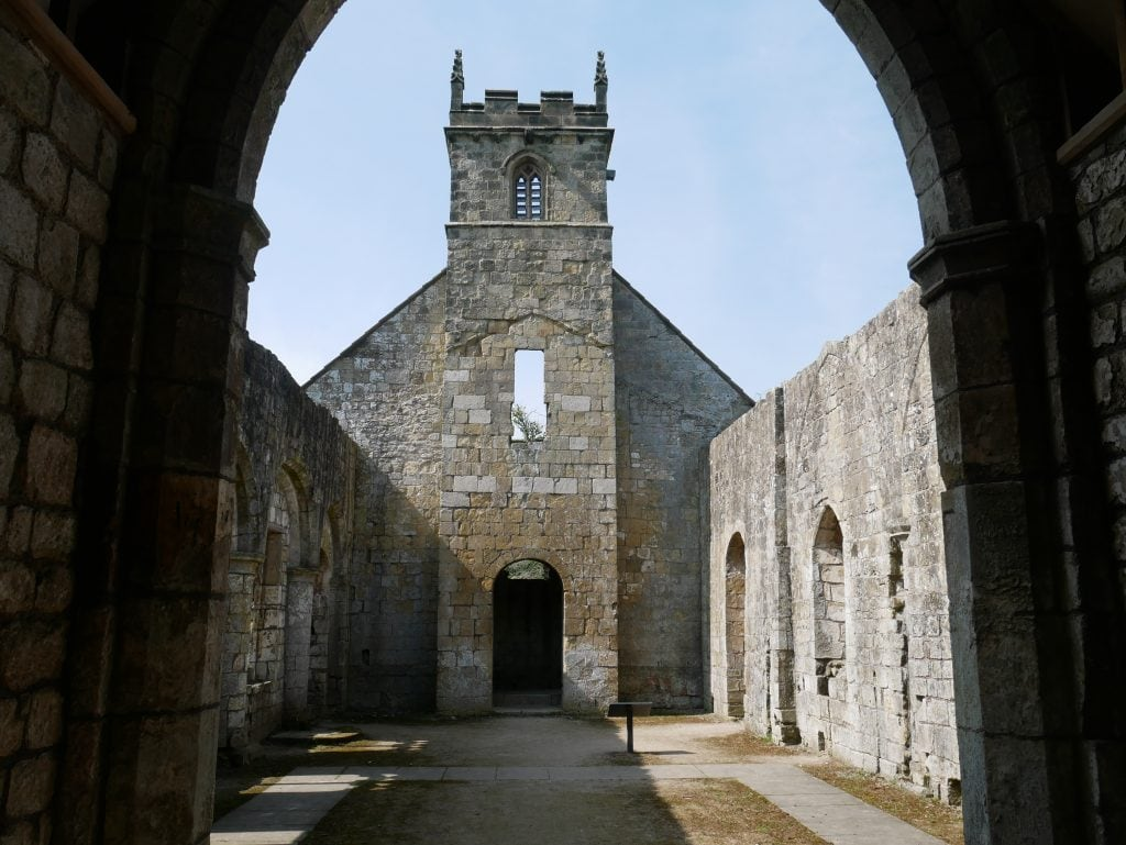 Inside the church at Wharram Percy