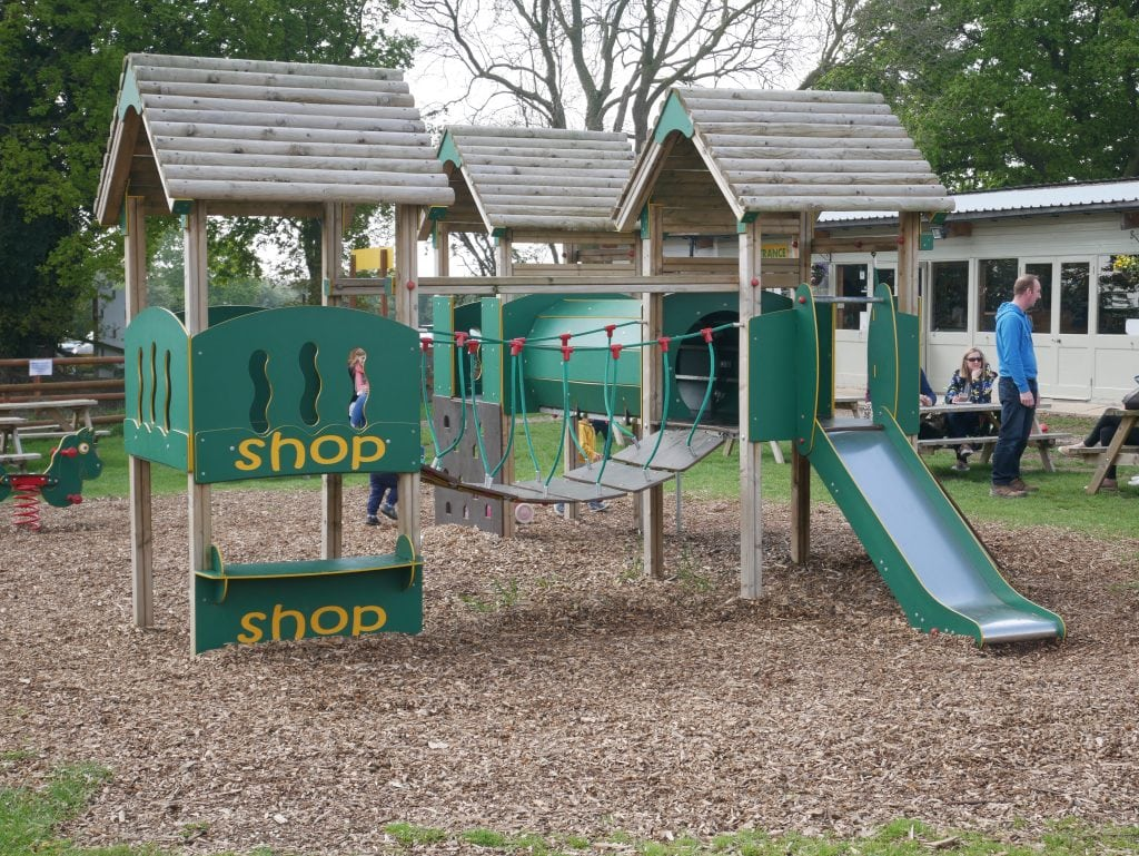 Part of the playground near the cafe