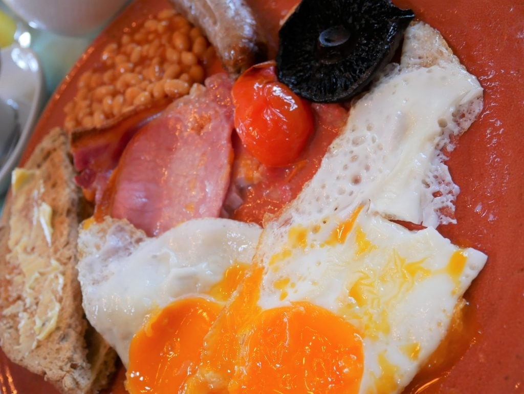 Our delicious full English breakfast