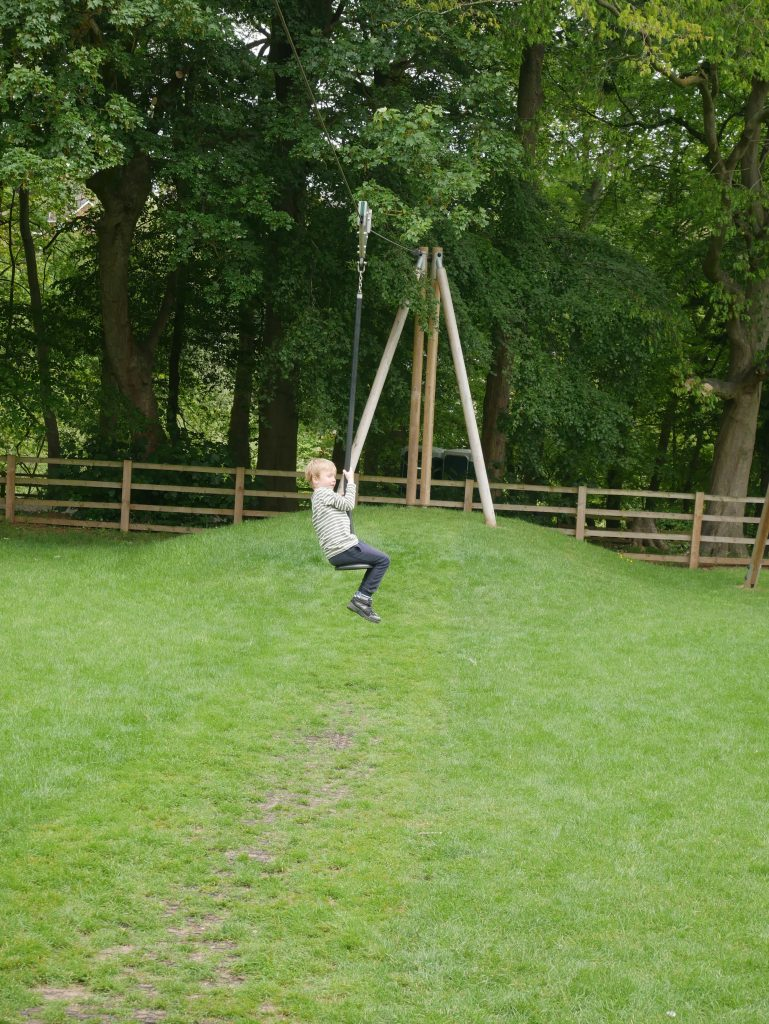 He loved the zip wire - it was the perfect height for him to get on