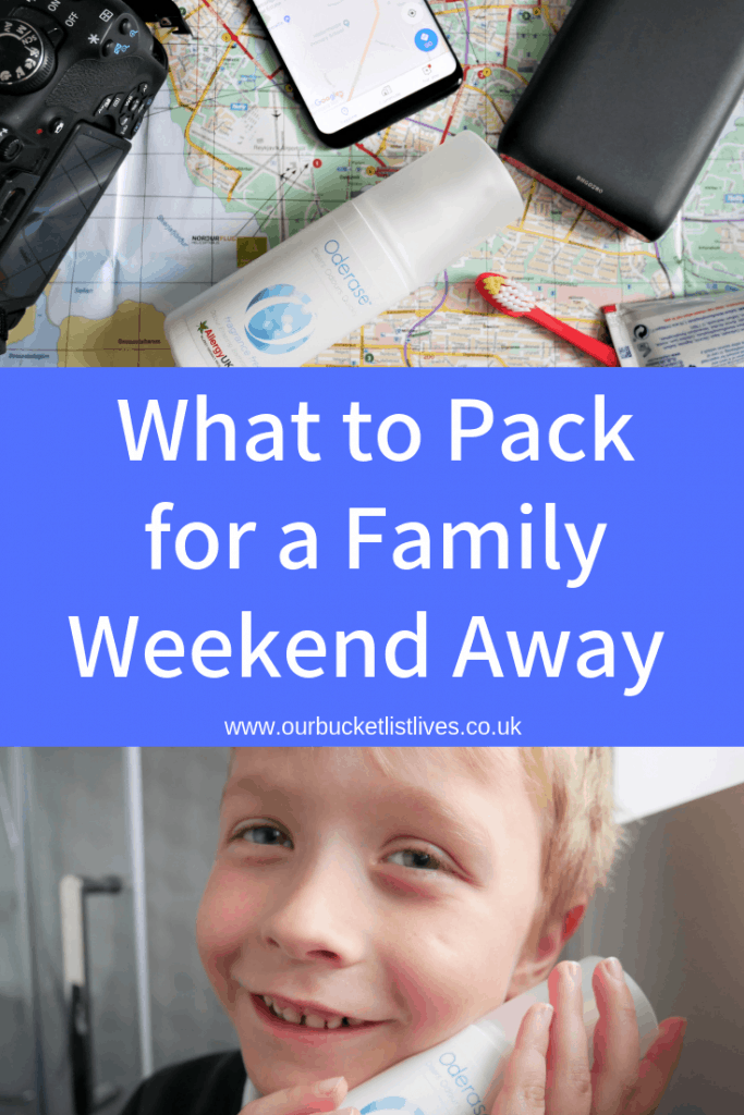 What to Pack for a Family Weekend Away | Oderase and Other Travel Essentials
