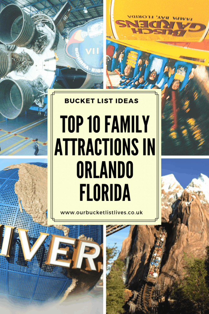 Top 10 Family Attractions in Orlando Florida