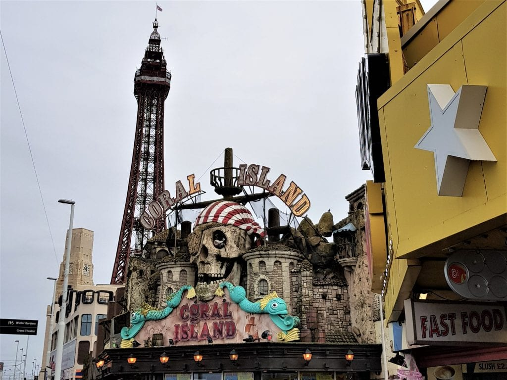 Coral Island commands a great location next to the Blackpool Tower