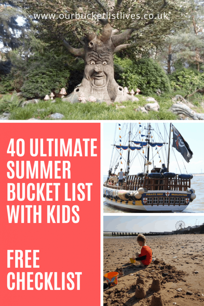 40 Ultimate Summer Bucket List with Kids | Free Checklist