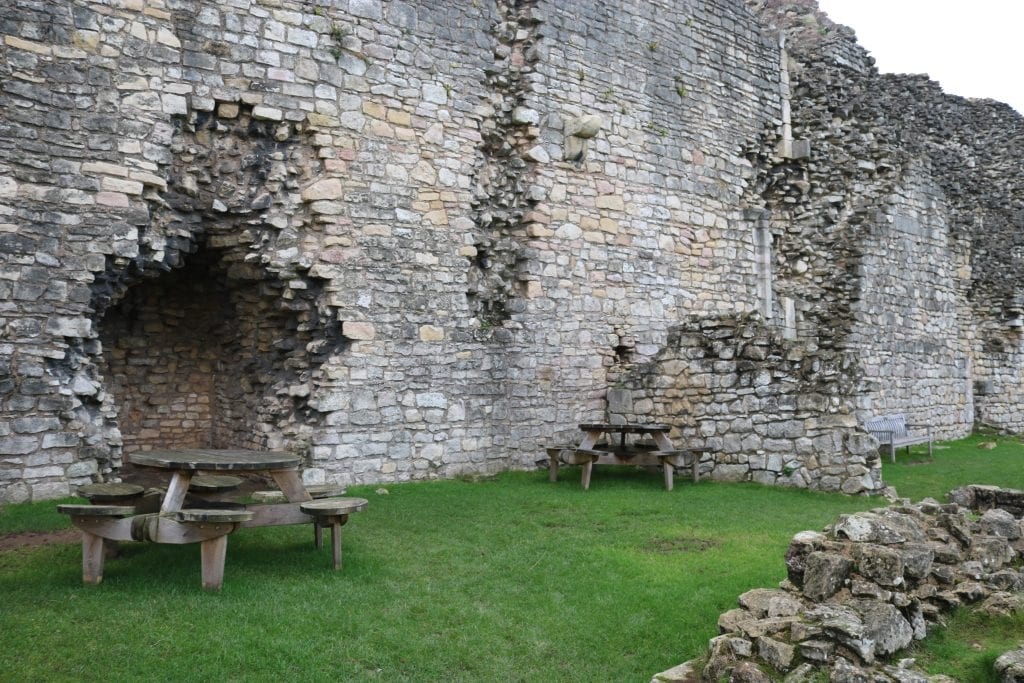 The crumbling outer walls
