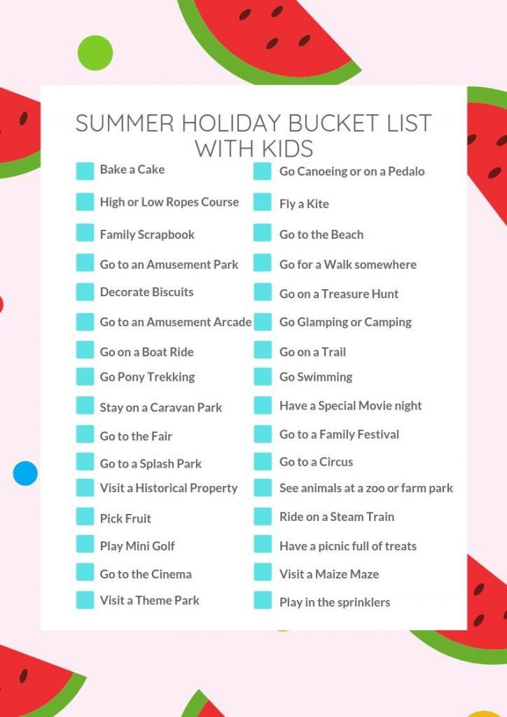 40 Ultimate Summer Bucket List with Kids   Free Checklist
