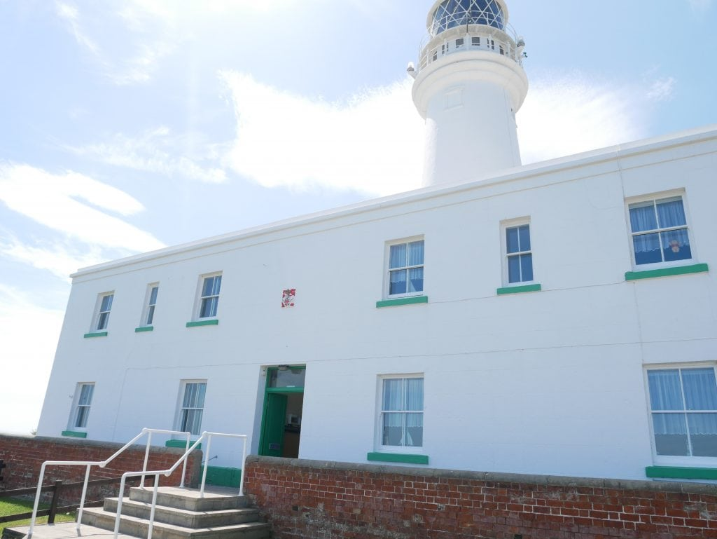 Entrance to Flamborough Lighthouse visitor centre