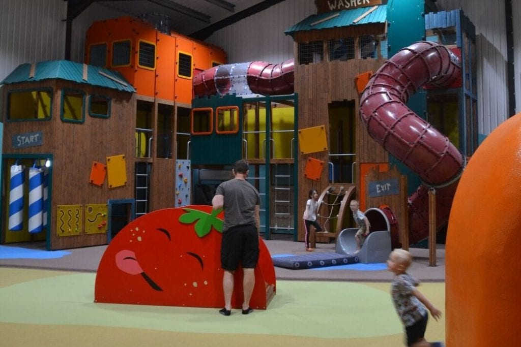 Indoor soft play at Mead open farm