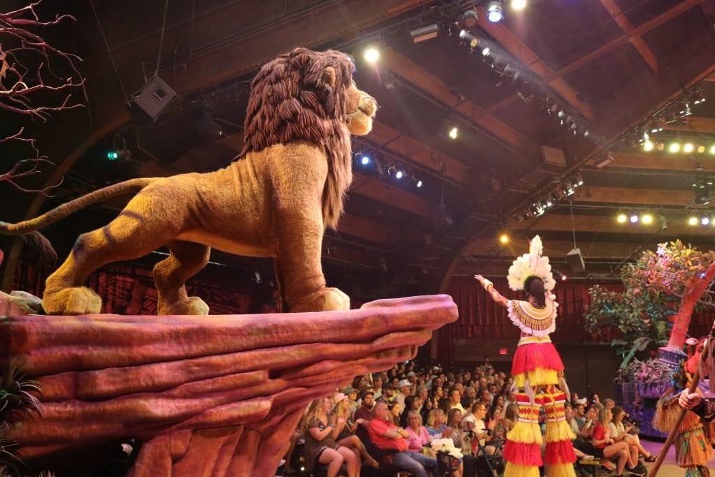The fabulous Lion King show at Animal Kingdom