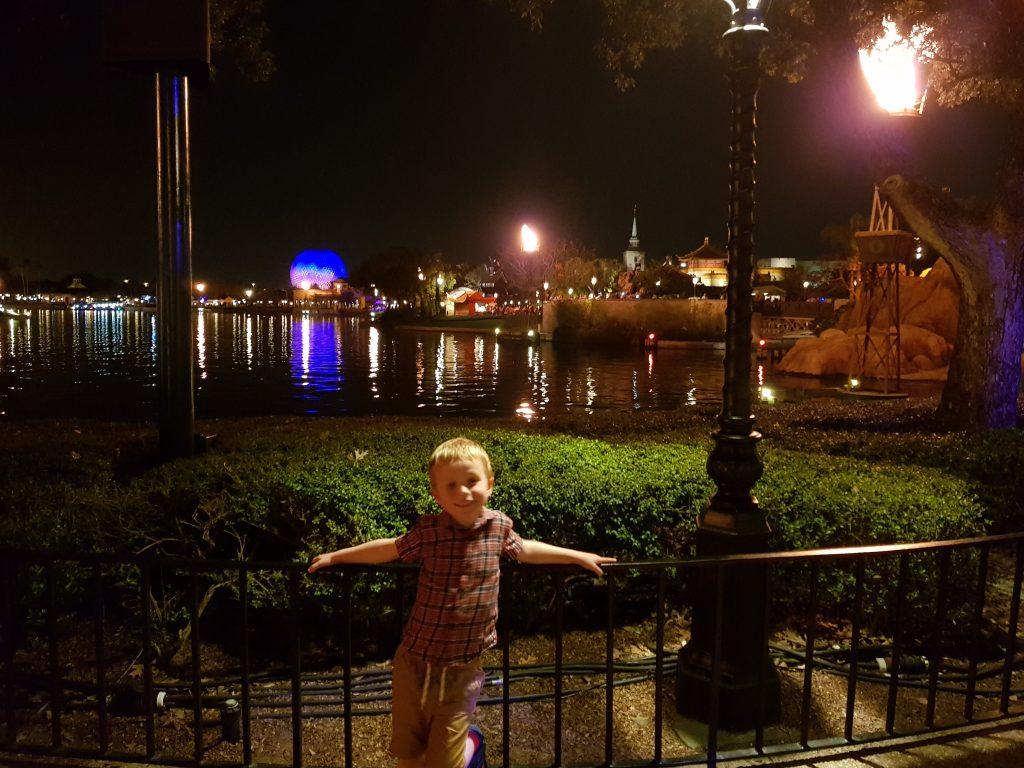 Epcot world showcase by night