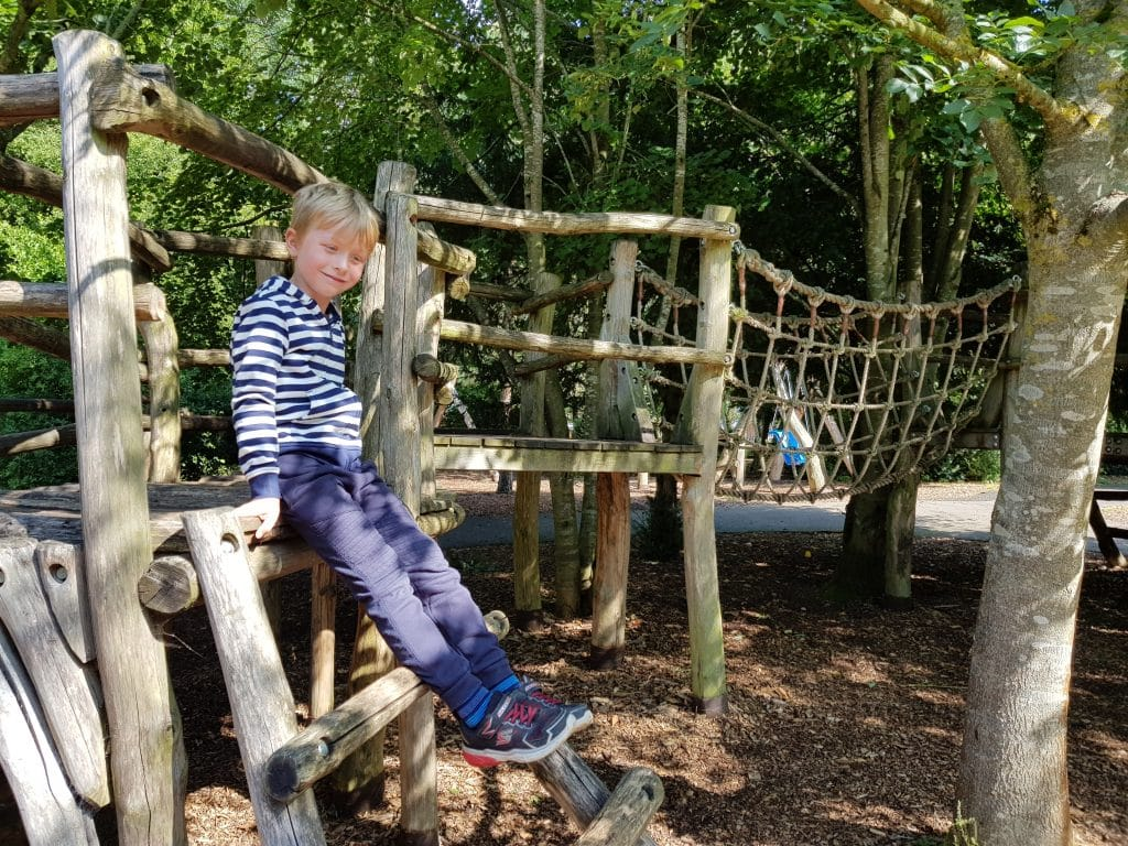 Adventure play at Fountains Abbey
