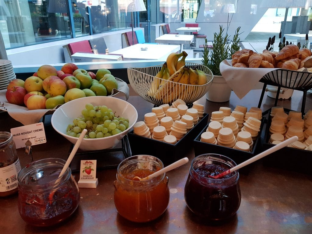 Buffet breakfast at the Scandic
