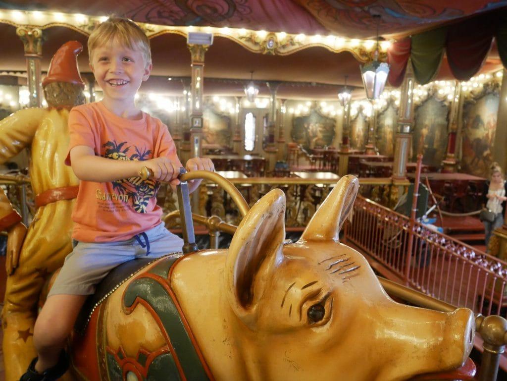 Riding the Stoomcarousel