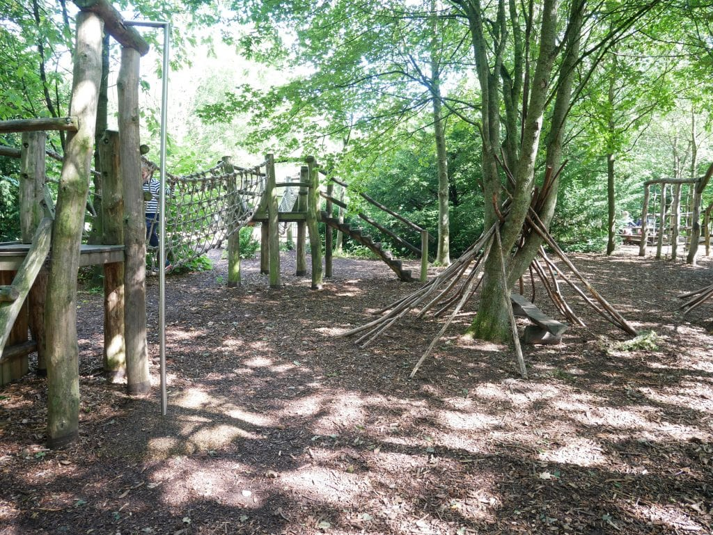 Photos of the adventure playground at Fountains abbey