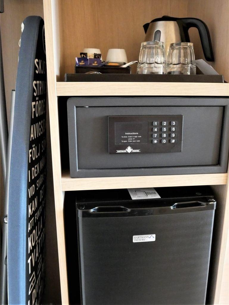 Tea and coffee making facilities, fridge, iron and safe