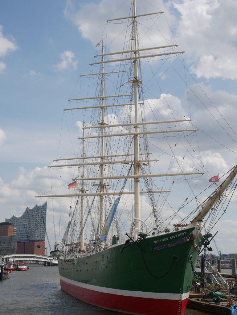 Hamburg harbour has some beautiful boats