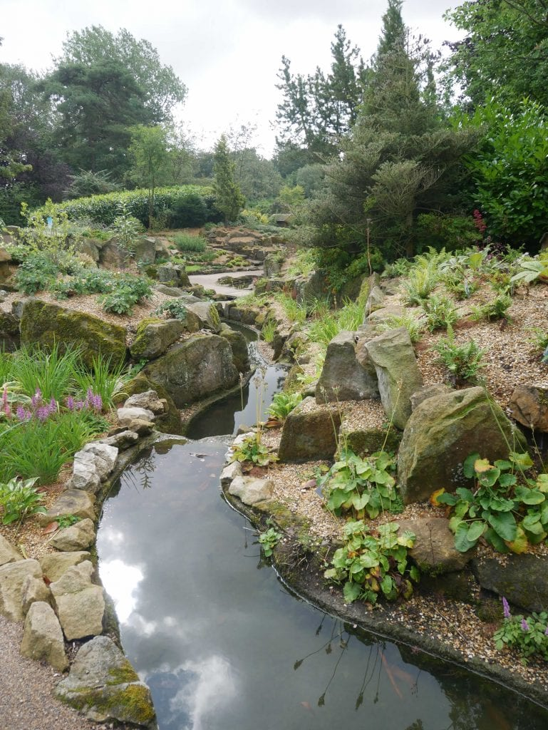 the recently restored rockery