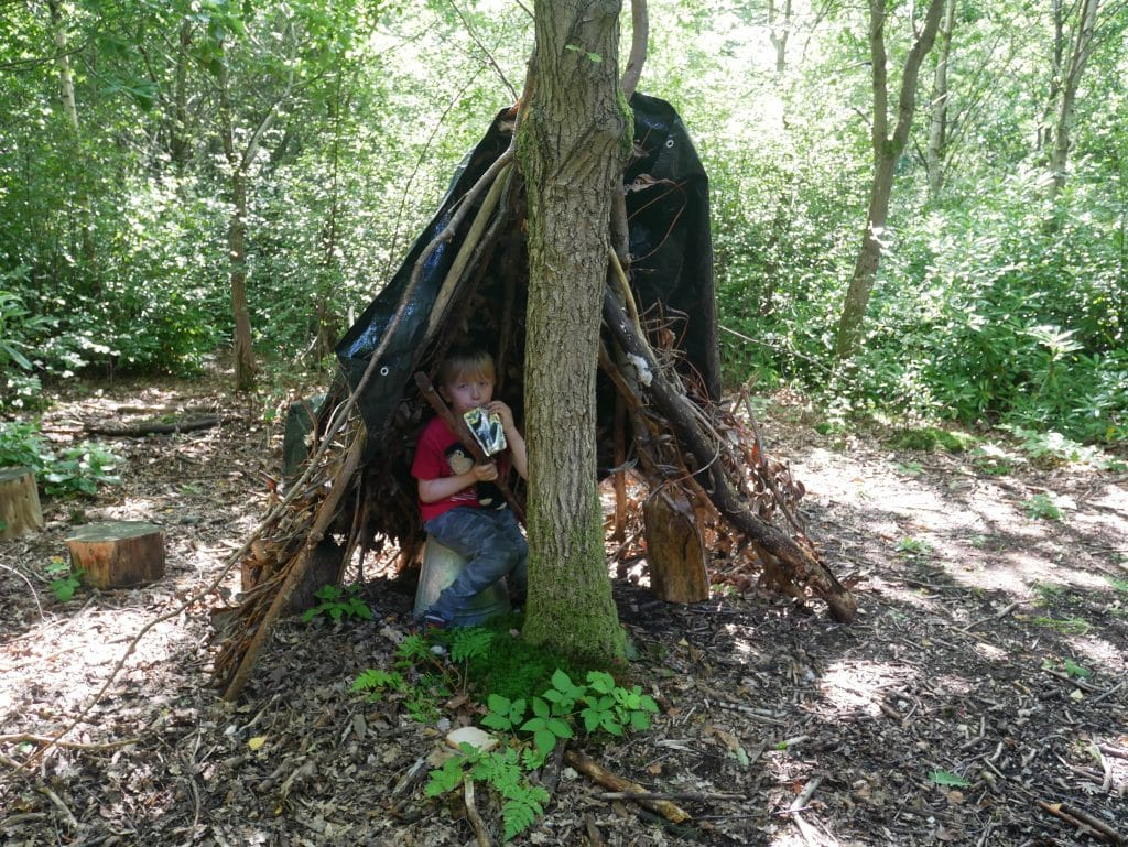 We made a den