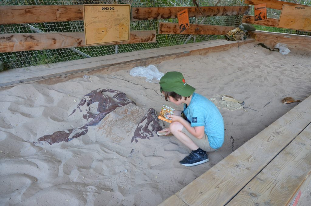 Dino Dig in Land of the Living Dinosaurs
