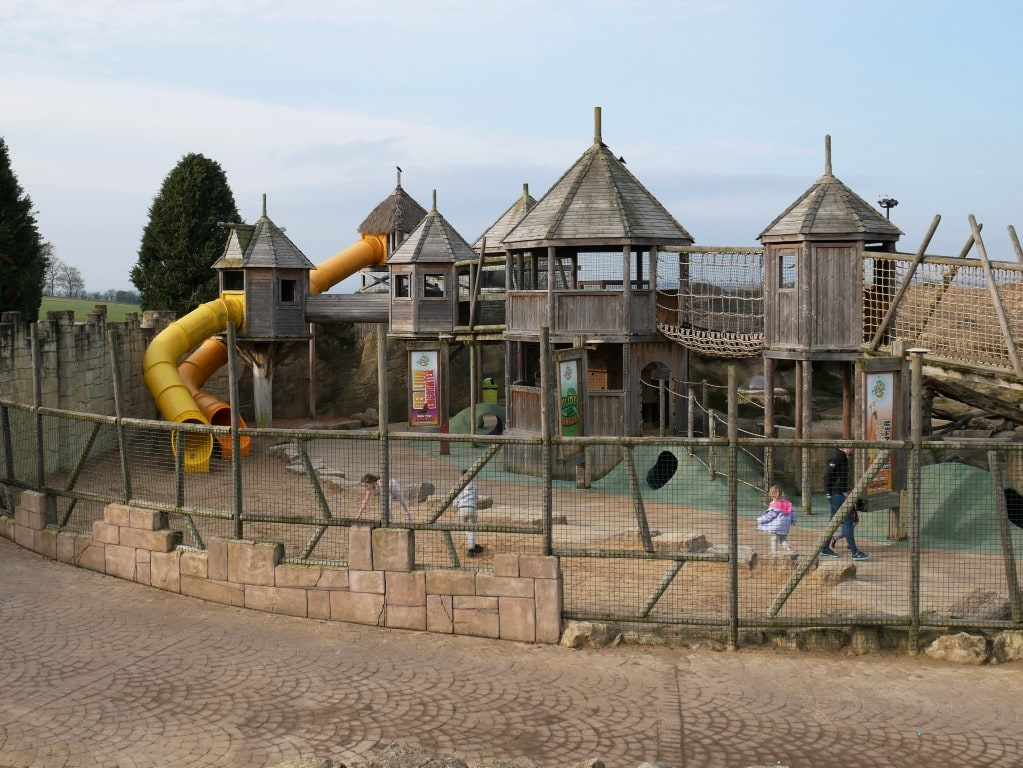 Flamingo Land in Winter